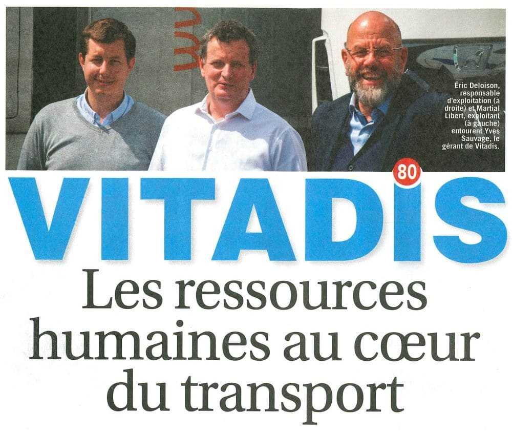 Vitadis, société de transport et logistique parution dans la presse
